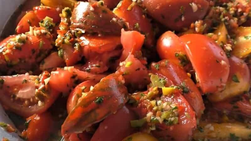 кусочки помидоров