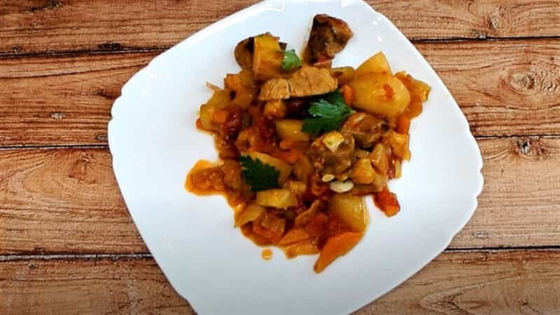 кабачки с картошкой и мясом
