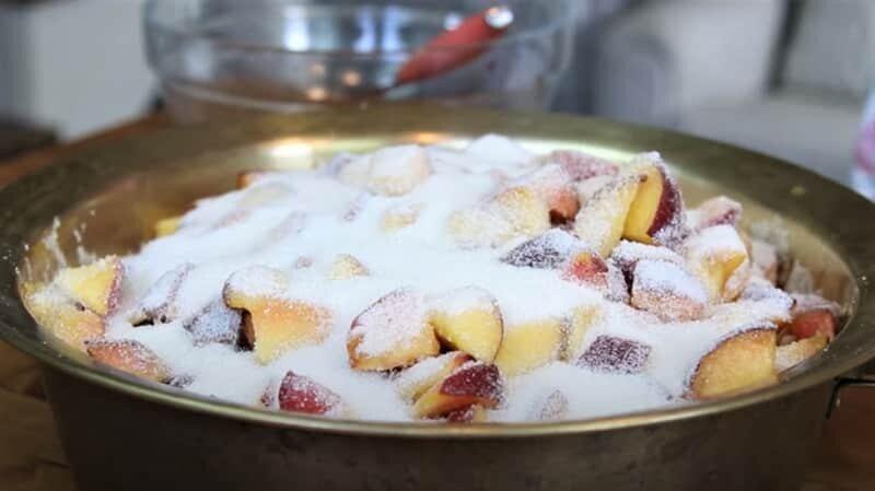 сахар с персиками