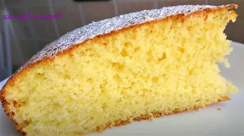 пирог из бисквита