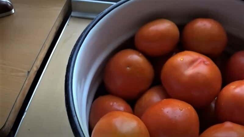 томаты в ведре