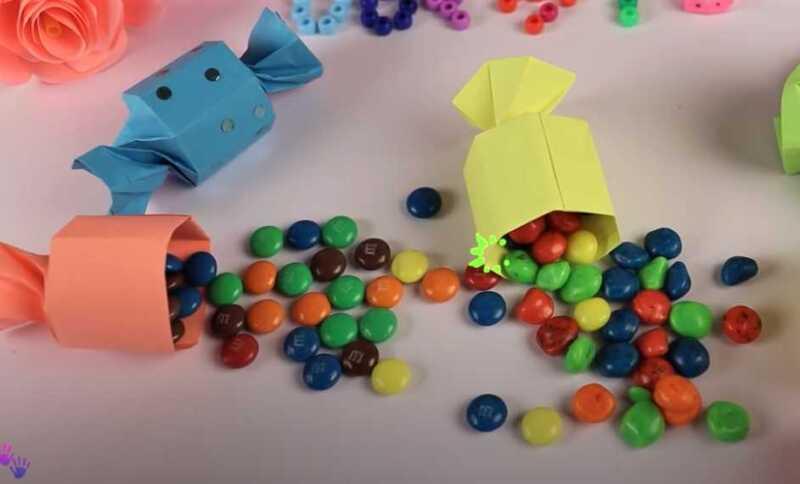 конфета из бумаги