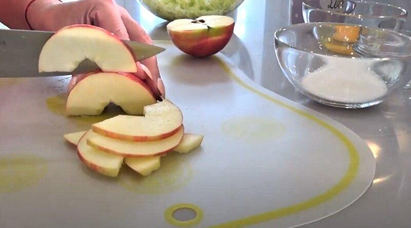 пластинки яблок