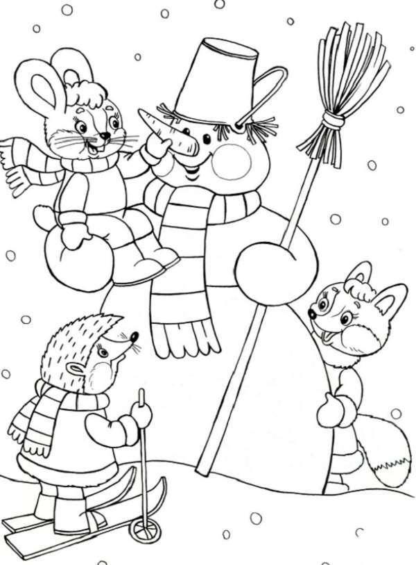 зверюшки на снеговике