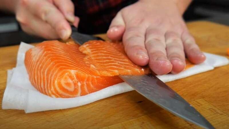срезка рыбы