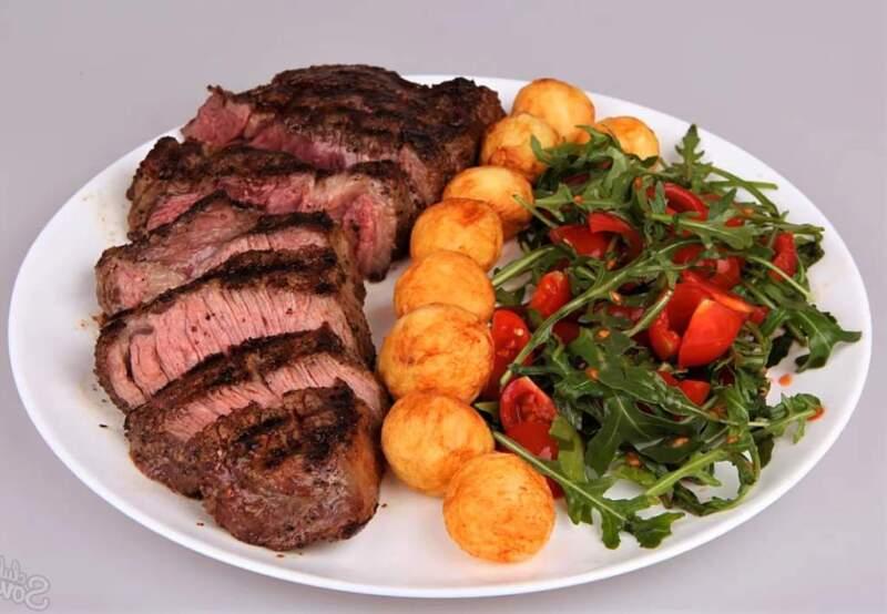 салат картошка мясо