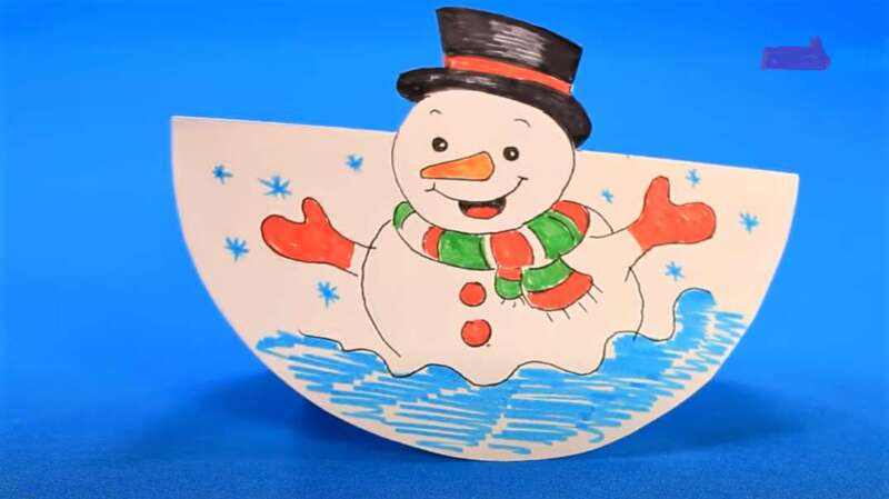 поделка Снеговика из бумаги