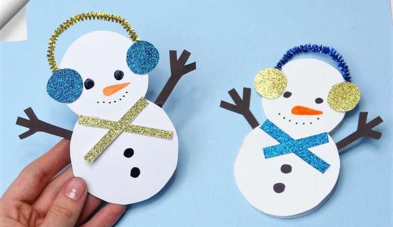 снеговики с наушниками