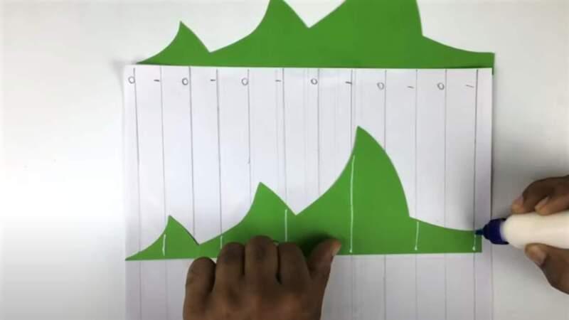 шаблон на листе бумаги