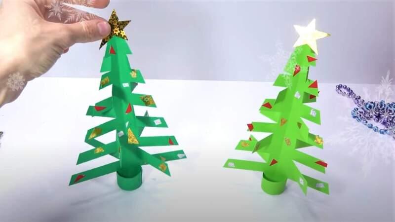 елка со звездой
