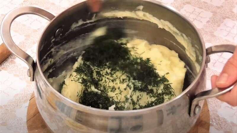 картошка с зеленью