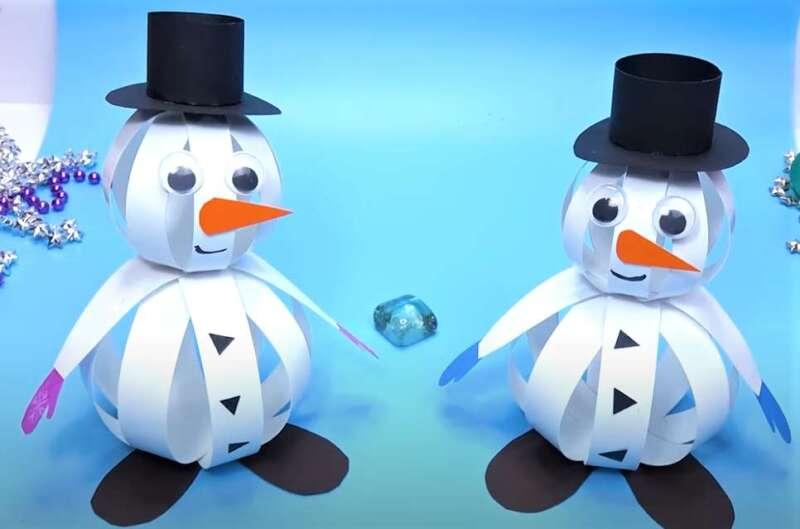 объемные снеговики