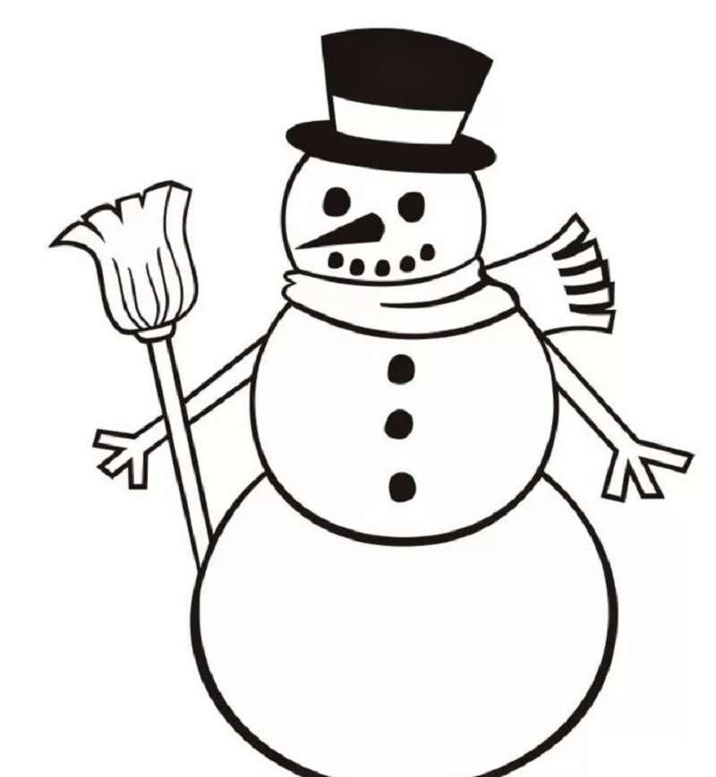 улыбающийся снеговик