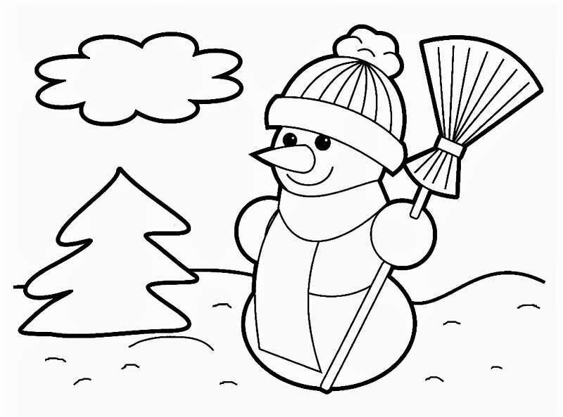 маленький снеговичок