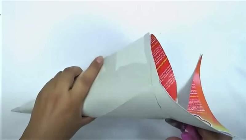 конус из бумажного листа