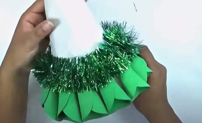 мишура на конусе