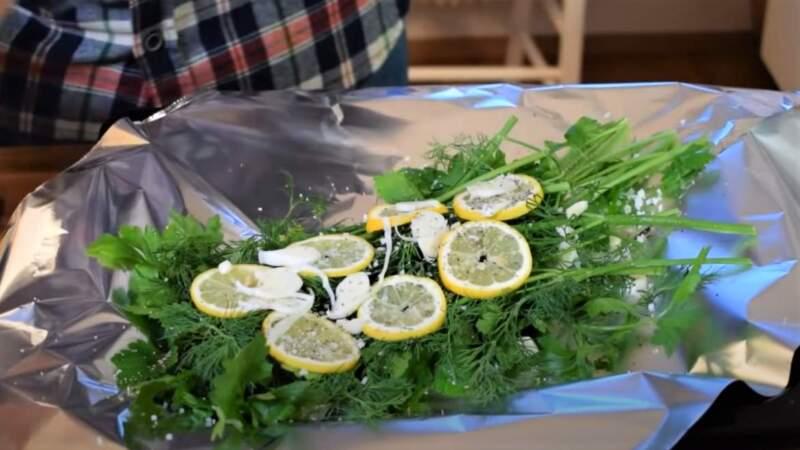 зелень с лимоном