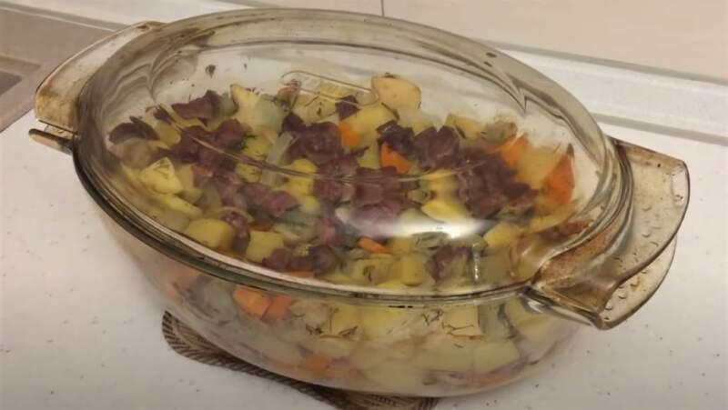 жаровня с индейкой и овощами