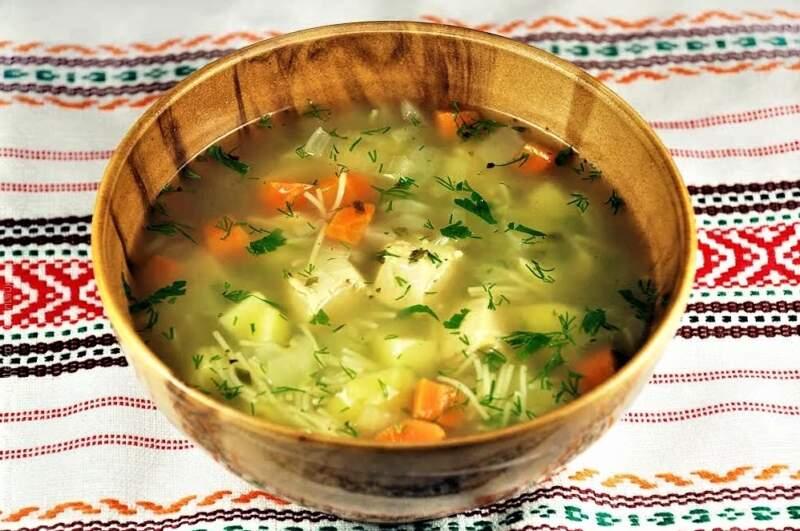 суп с вермишелью