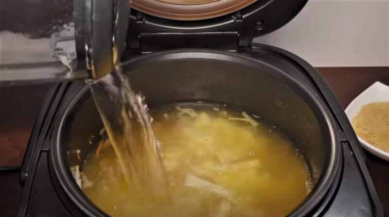 вода в суп