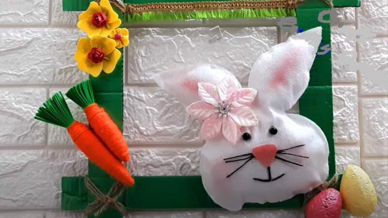 кролик на рамке