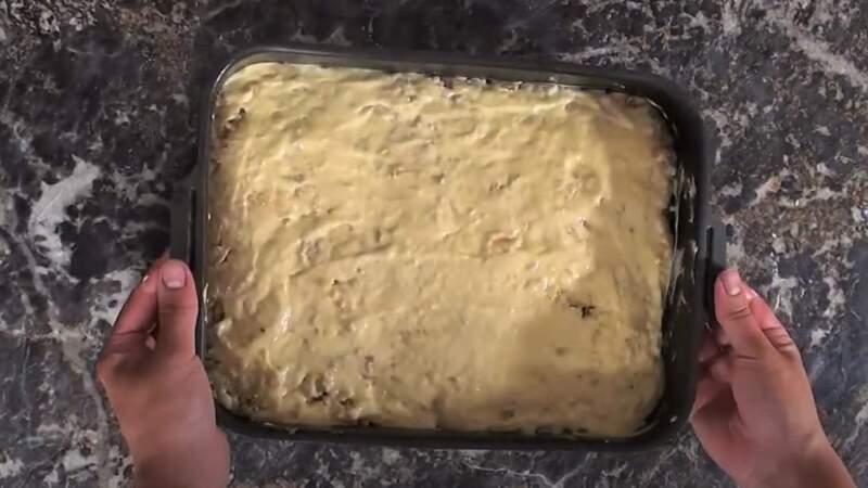 тесто на начинке