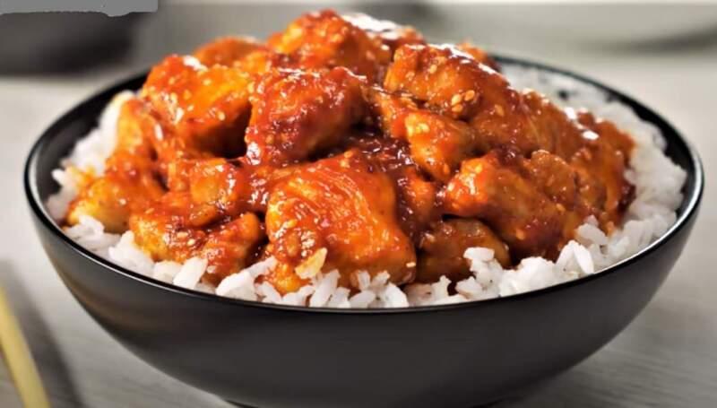 курица с рисом по-китайски