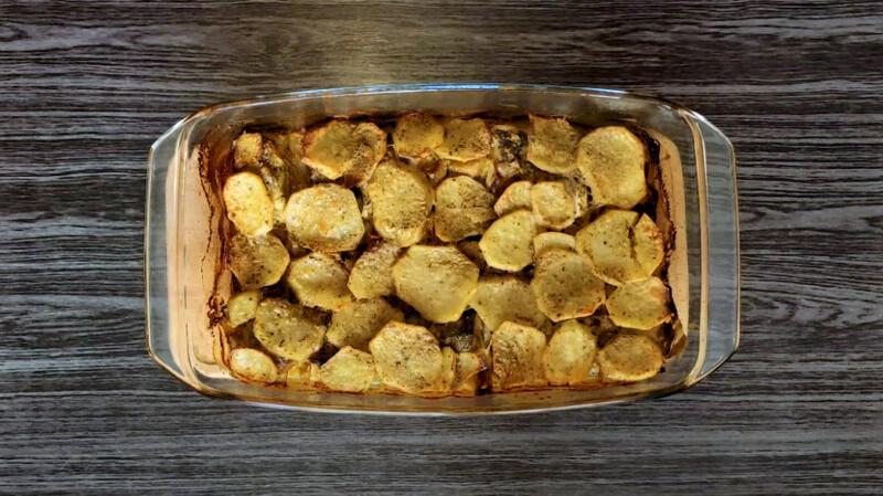 запеченная картошка с хеком