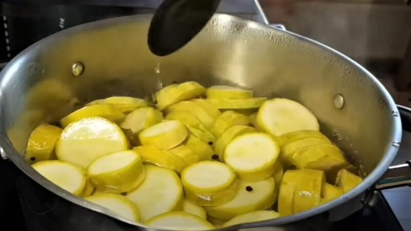 кабачки в маринаде