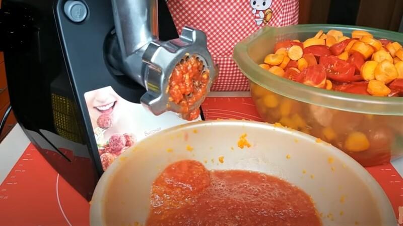 овощи через мясорубку